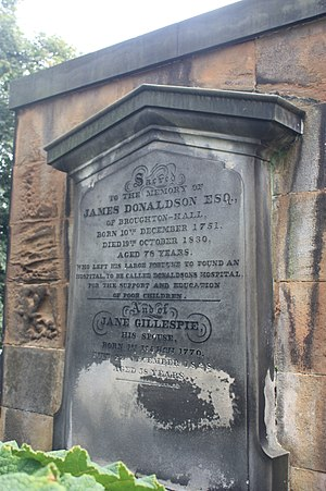 James Donaldson (publisher) - James Donaldson's grave, St Johns, Princes St, Edinburgh