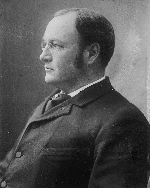 James Sherman, Bain bw photo portrait facing left