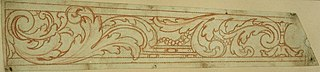 Design for a frieze with leaf motif
