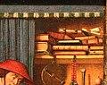 Jan van eyck, san girolamo nello studio, 1435 ca. 02 libri.jpg