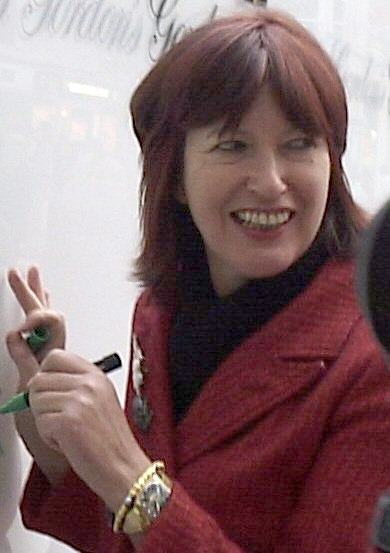 Janet Street-Porter at station