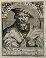 Janus Cornarius. Line engraving by T. de Bry. Wellcome V0001292.jpg