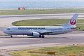 Japan Transocean Air, NU5, Boeing 737-446, JA8993, Departed to Naha, Kansai Airport (17162093606).jpg