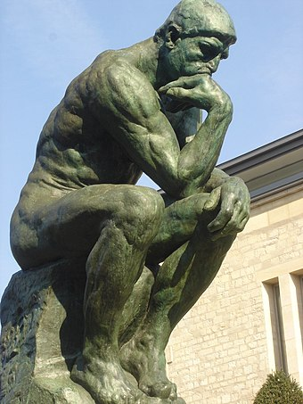 The Thinker by Rodin (1840-1917), in the garden of the Musee Rodin Jardin du Musee Rodin Paris Le Penseur 20050402 (02).jpg