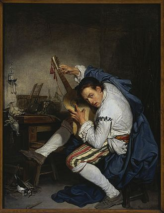 Jean-Baptiste Greuze - The Guitarist (1757), National Museum in Warsaw.