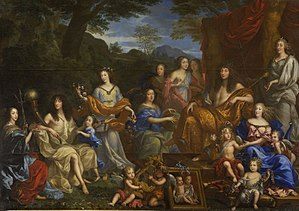 Marie Thérèse of France (1667–1672) - Image: Jean Nocret Louis XIV et la famille royale Google Art Project