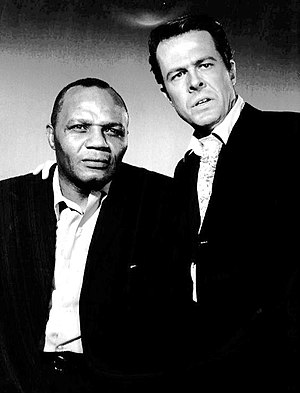 Jersey Joe Walcott - Walcott (left) with Robert Culp in Cain's Hundred, 1962