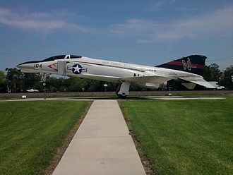 Wedell-Williams Aviation & Cypress Sawmill Museum - Patterson - Phantom F4 Navy Jet in front of Wedell-Williams museum