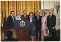 Jimmy Carter and Rosalynn Carter present the White House portraits of Gerald Ford and Betty Ford. - NARA - 179539.tif