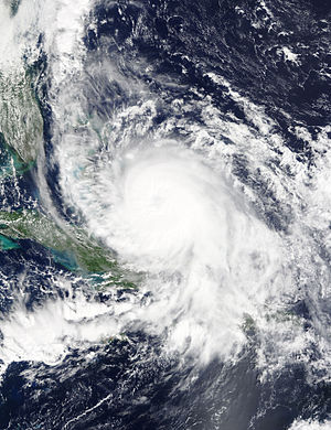 Hurricane Joaquin - Hurricane Joaquin meandering around the Bahamas on October 2. Note the system to its north, which produced heavy rainfall over the Carolinas