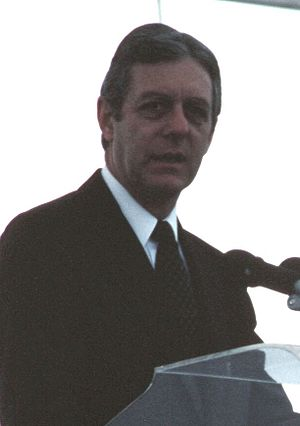 Joe Frank Harris - Harris speaking at the commissioning ceremony for the USS ''Georgia'' in 1984