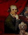 Johan Zoffany. Self portrait with dog, Roma.jpeg