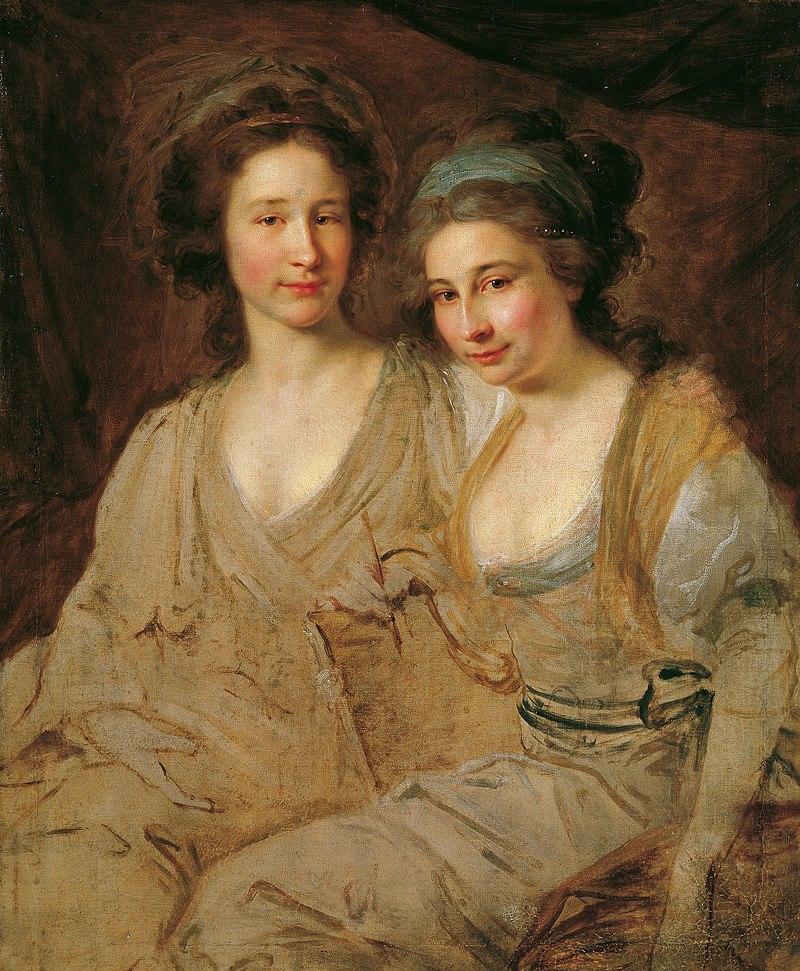 Johann Baptist Lampi d. Ä. - Die Gräfinnen Caroline und Zoë Thomatis - 2427 - Österreichische Galerie Belvedere.jpg