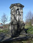 Monument to John Brooks to west of Parish Church of St Mary the Virgin John Brooks monument-St Mary's churchyard, Prestwich.JPG
