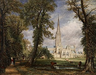 Constable's Salisbury Cathedral from the Bishop's Grounds; c. 1826 version