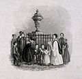 John Evelyn's monument in Wootton. Wood engraving. Wellcome V0018698.jpg
