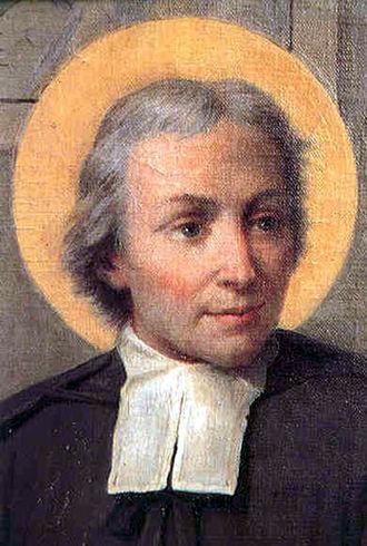 Bands (neckwear) - Jean-Baptiste de La Salle, a Roman Catholic priest, wearing preaching bands
