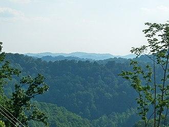 Johnson County, Kentucky - A typical mountain vista.