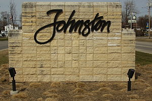 Johnston, Iowa - Johnston welcome sign