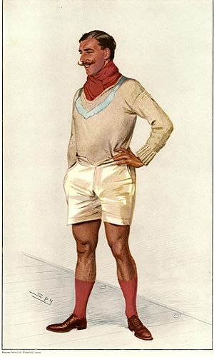"Banner Johnstone - As depicted by ""Spy"" (Leslie Ward) in Vanity Fair, 3 July 1907"