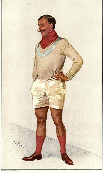 """Banner Johnstone - As depicted by """"Spy"""" (Leslie Ward) in Vanity Fair, 3 July 1907"""