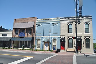 National Register of Historic Places listings in Clayton County, Georgia - Image: Jonesboro Buildings