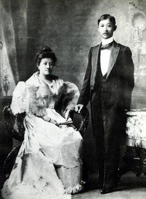 José Alejandrino - Alejandrino with his wife, 1901.