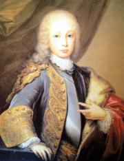 Il principe Giuseppe nella sua giovinezza come principe del Brasile, ritratto di Domenico Duprà