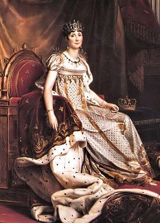 Waistline (clothing) - Joséphine de Beauharnais wearing a dress with an empire waist.