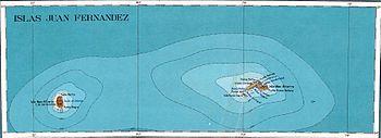 Map of the Juan Fernández Islands
