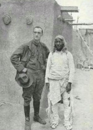Neil Judd - Neil M. Judd and Santiago Nahnjo, Governor of Santa Clara Pueblo, circa 1909.