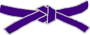 Ceinture violette de Judo
