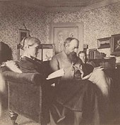 Julia, Leslie and Virginia reading in the library at Talland House. Photography by Vanessa Bell