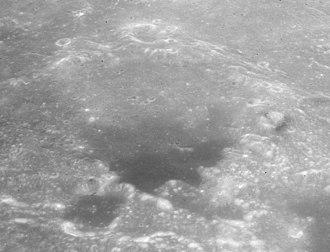 Julius Caesar (crater) - Oblique view facing south from Apollo 15