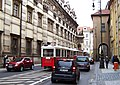 Křižovnická, historická tramvaj u Klementina.jpg