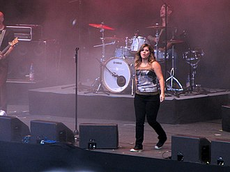 """Mr. Know It All - Clarkson performing """"Mr. Know It All"""" Stars for Free music festival in Berlin, Germany, September 2011"""