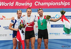 2013 World Rowing Championships - Men's lightweight single sculls medallists