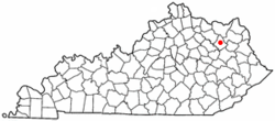 Location of Morehead, Kentucky