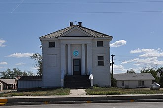 National Register of Historic Places listings in Jackson County, South Dakota - Image: Kadoka SD Mt Moriah Masonic Lodge