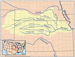 Big Blue River Kansas Wikipedia - Nebraska rivers map