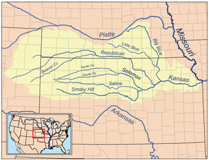 Big Blue River (Kansas) - Image: Kansasrivermap