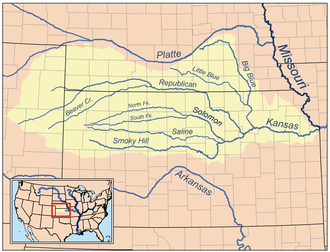 Big Blue River (Kansas) - Image: Kansasrivermap