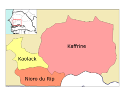 Kaolack région, divided into 4 départements