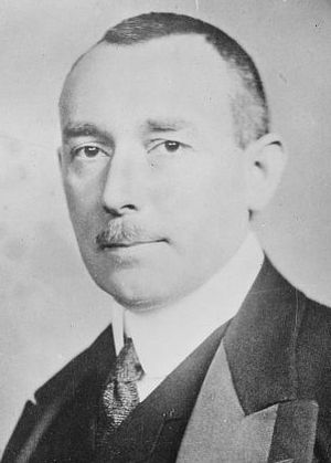 German National People's Party - Karl Helfferich, the leader of the DNVP's Reichstag delegation 1919–1924. Helfferich was well known for his abusive, abrasive style of politics which led to the Chancellor Joseph Wirth to accuse him in 1922 on the floor of the Reichstag of moral responsibility for the assassination of Walther Rathenau.