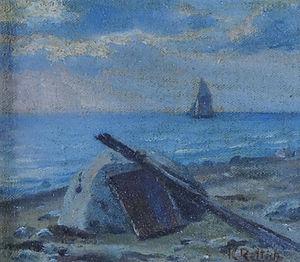 Karl Lorenz Rettich Segler vor der Küste.jpg