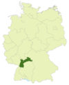 Map of Germany: Position of North Baden highlighted