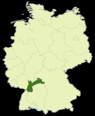 Verbandsliga Baden - Image: Karte DFB Regionalverbände BA