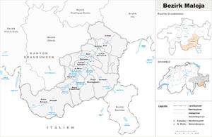Maloja District - Image: Karte Bezirk Maloja 2010