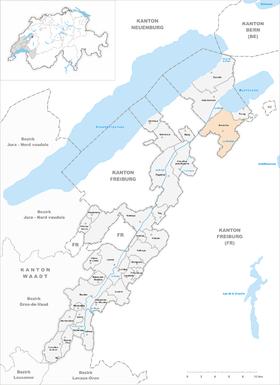Karte von Avenches