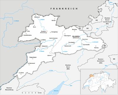 Map of Jura